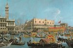 The Bucintoro returning to the Molo Poster Art Print by Canaletto