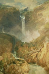 The Great Falls of the Reichenbach, 1804 Poster Art Print by Albert Goodwin