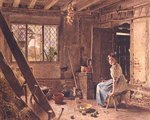 The Maid and the Magpie, A Cottage Interior at Shillington, Bedfordshire, 1834 Poster Art Print by William Henry Hunt