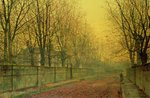 In the Golden Glow of Autumn, 1884 Poster Art Print by John Atkinson Grimshaw