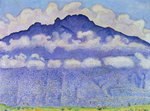 Andey Mountain, vue from Bonneville, 1909 Poster Art Print by Odilon Redon