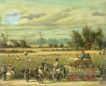 Picking Cotton Poster Art Print by William Aiken Walker