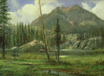 Sierra Nevada Mountains Poster Art Print by Albert Bierstadt