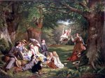 Fine Art Print of The Picnic by Thomas P. Hall