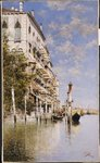 Along the Grand Canal Poster Art Print by Canaletto