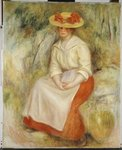 Gabrielle in a Straw Hat, 1900 Poster Art Print by Pierre-Auguste Renoir