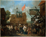 Southwark Fair, 1733 Poster Art Print by William Hogarth