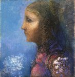 Fine Art Print of Profile: The Flag by Odilon Redon