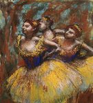Three Dancers Poster Art Print by Edgar Degas