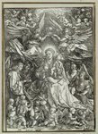 The Virgin and Child surrounded by angels, 1518 Poster Art Print by Frans II the Younger Francken