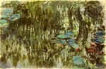 Water Lilies, Reflected Willow, c.1920 Poster Art Print by Claude Monet