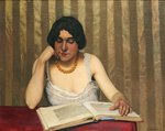 Reader with a Yellow Necklace, 1912