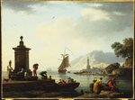A View of the Harbour at Genoa, 1773 Poster Art Print by English School