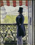Man on a Balcony, Boulevard Haussmann, 1880 Poster Art Print by Edouard Manet