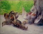 Still Life with Pheasants Poster Art Print by Claude Monet