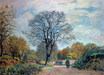 A Road in Seine-et-Marne, 1878 Poster Art Print by John Constable