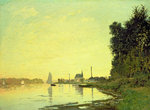 Argenteuil, at the End of the Afternoon, 1872 Poster Art Print by Claude Monet