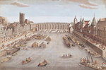 Fine Art Print of View of the Pont au Change looking downstream by French School