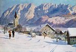 Fine Art Print of Mitterndorf in Austria, after an original watercolour by Gustave Jahn