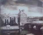 View of the Louvre and the Tuileries, c.1850 Poster Art Print by Peter Nicholls