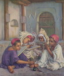 Writing Lesson in a Koranic School in an Algerian Village, 1918 Poster Art Print by Charles Edmund Brock