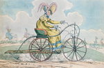 Fine Art Print of Bicycle with three wheels, the Ladies' hobby, 1819 by English School