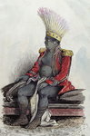 King Temoana on the island of Nuka-Hiva dressed in the uniform of a French colonel, c.1841-48