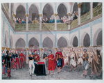 Investiture of the Bey of Algiers by Count Bertrand Clausel Poster Art Print by Theodore Leblanc