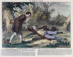 Troppmann poisons Jean Kinck in the forest of Wattwiller, 1869 Poster Art Print by French School