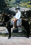 Postcard depicting a Mexican on his Horse, 1908 Poster Art Print by James Edwin McConnell