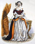 Portrait of Madame de Sevigne, 1835 Poster Art Print by English School