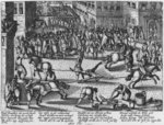 Execution of Francois Ravaillac, the assassin of King Henri IV, 1610 Poster Art Print by French School