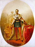 Portrait of Tsar Nicholas I of Russia, 1826 Poster Art Print by Allan Ramsay