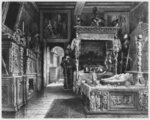 Cluny Hotel and Museum, room of Francois I, Paris, illustration from 'Atlas, Les Arts du Moyen Age...' by Alexandre du Sommerard Poster Art Print by Giovanni Paolo Pannini or Panini