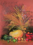Autumn Harvest Poster Art Print by Claire Spencer