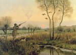Duck Shooting Poster Art Print by Charlie Baird