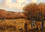 Pheasant Shooting Poster Art Print by Thomas Moran