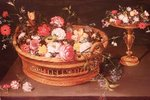 A Basket of Flowers Poster Art Print by William Henry Hunt