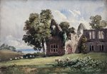 Ruined Abbey and Sheep by Edward Wilkins Waite - print