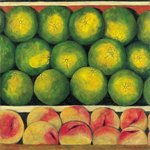Green Oranges and Peaches, 1999 Poster Art Print by Peter Graham