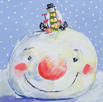 Fine Art Print of The Snowman's Head by David Cooke
