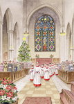 Fine Art Print of Carol Service by Stanley Cooke