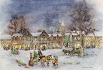 Fine Art Print of Village Street in the Snow by Stanley Cooke