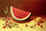 Watermelon Poster Art Print by William Henry Hunt