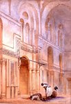In the Mosque of Sultan Allahoon, Cairo, 1873 Poster Art Print by Carl Haag