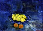 Lemons in a Blue Bowl, 1997 Poster Art Print by William Henry Hunt