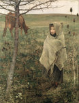 Fine Art Print of Poor Fauvette, 1881 by Jules Bastien-Lepage