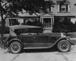 DuPont automobile on front of house, c.1919-30 Poster Art Print by American School
