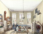 The Kitchen at Aynhoe, 3rd February 1847 Poster Art Print by Peter Jackson