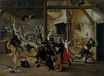 Soldiers Plundering a Farm during the Thirty Years' War, 1620 Poster Art Print by Peter Jackson